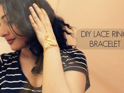 DIY Lace Ring Bracelet. Slave Bracelet