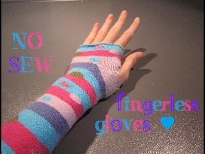 DIY mini: NO-SEW Fingerless Gloves - ABCrafts