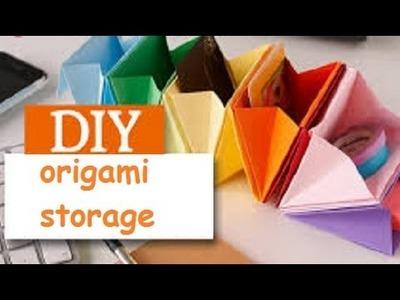 {DIY} Origami Desk Organizer