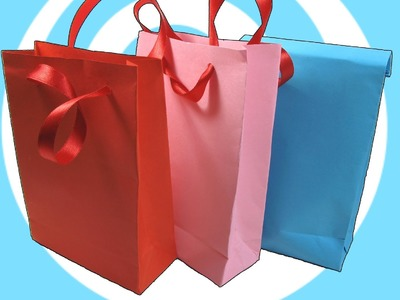 DIY: Paper Gift Bag with.without Handles Instructions