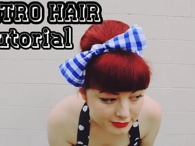 DIY Retro Bow & Hairstyle Tutorial