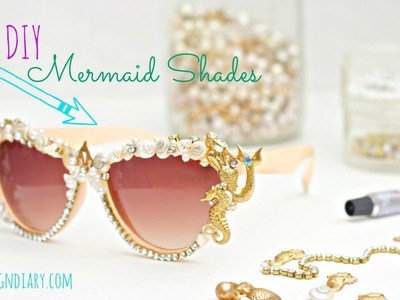 DIY Seashell Mermaid sunglasses!