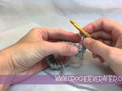 Double Crochet Tutorial #2: DC into the First Stitch of the Row