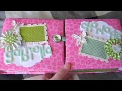 Gatefold Twins Baby Mini Album Scrapbook