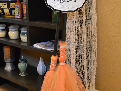 Halloween Crafts - Make a Broom Parking Display!