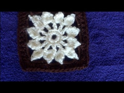How to Crochet a Granny Square Flower