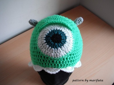 How to crochet mike wazowski crochet hat all sizes free pattern tutorial