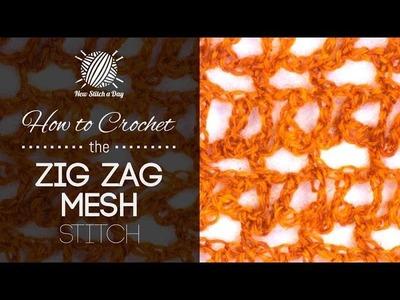 How to Crochet the Zig Zag Mesh Stitch