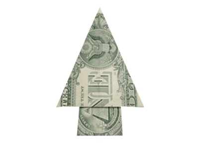 How to fold a Money Origami Xmas Tree