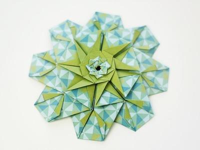 How to fold: Origami Mandala Poty | Nekkoart