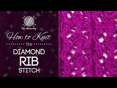How to Knit the Diamond Rib Stitch