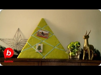 How to Make a Christmas Tree Card Holder | Crafts | Babble