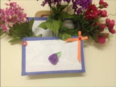 How to : Recycled letter holder or flower holder craft