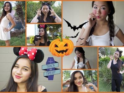 Last Minute DIY Halloween Costumes & Makeup! ♡