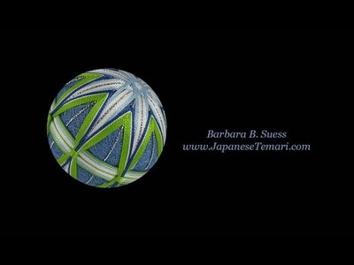 Learn to mark a simple 8 division on a Japanese temari ball