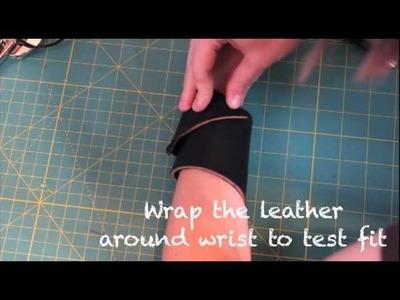 Leather Cuff DIY Tutorial- Whitney Sews