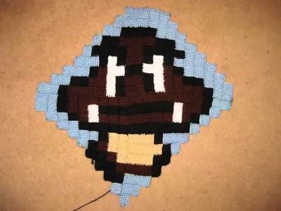 Luigi & Goomba Crochet Pillow