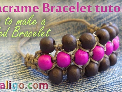 Macrame Bracelet Tutorial: How to make a beaded bracelet