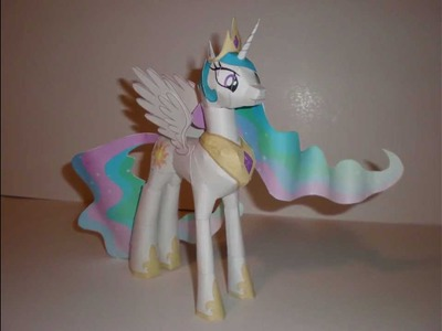 Papercraft Princess Celestia Time-Lapse