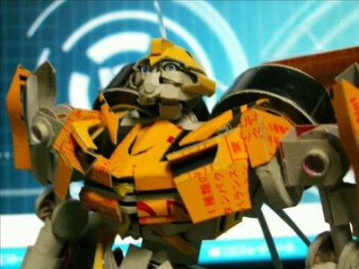 Papercraft real bumblebee