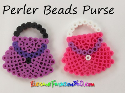Perler.Hama Beads Purse 2D (Mother's Day Gift) - How to tutorial by Elegant Fashion 360