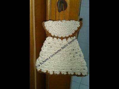 Presina Vestitino all'uncinetto(Pot Holder Crochet Mini Dress )