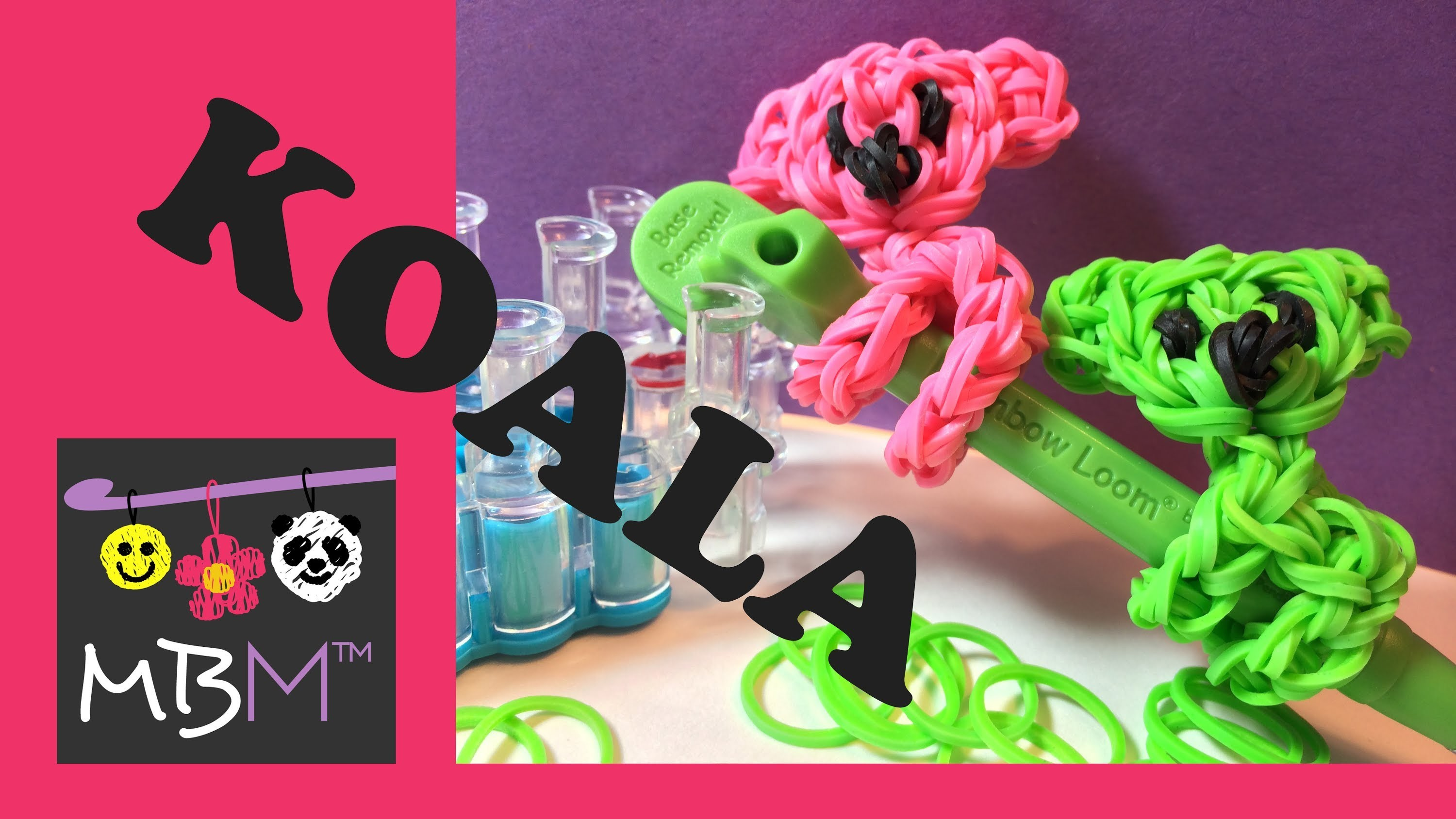 Rainbow Loom Pencil Hugger: Climbing Koala Bear