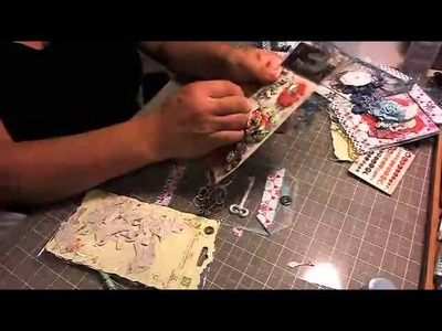 Scrapbooking Prima Holiday Gift Card Holder Ornaments (LWP Ustream Class)