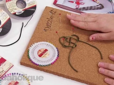 Show and Tell: Lovely Knots Cork Board, Pins and Cord