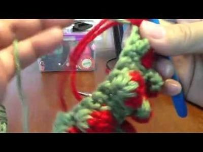 Strawberry stitch in regular crochet-2