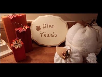 Thanksgiving Decor DIY