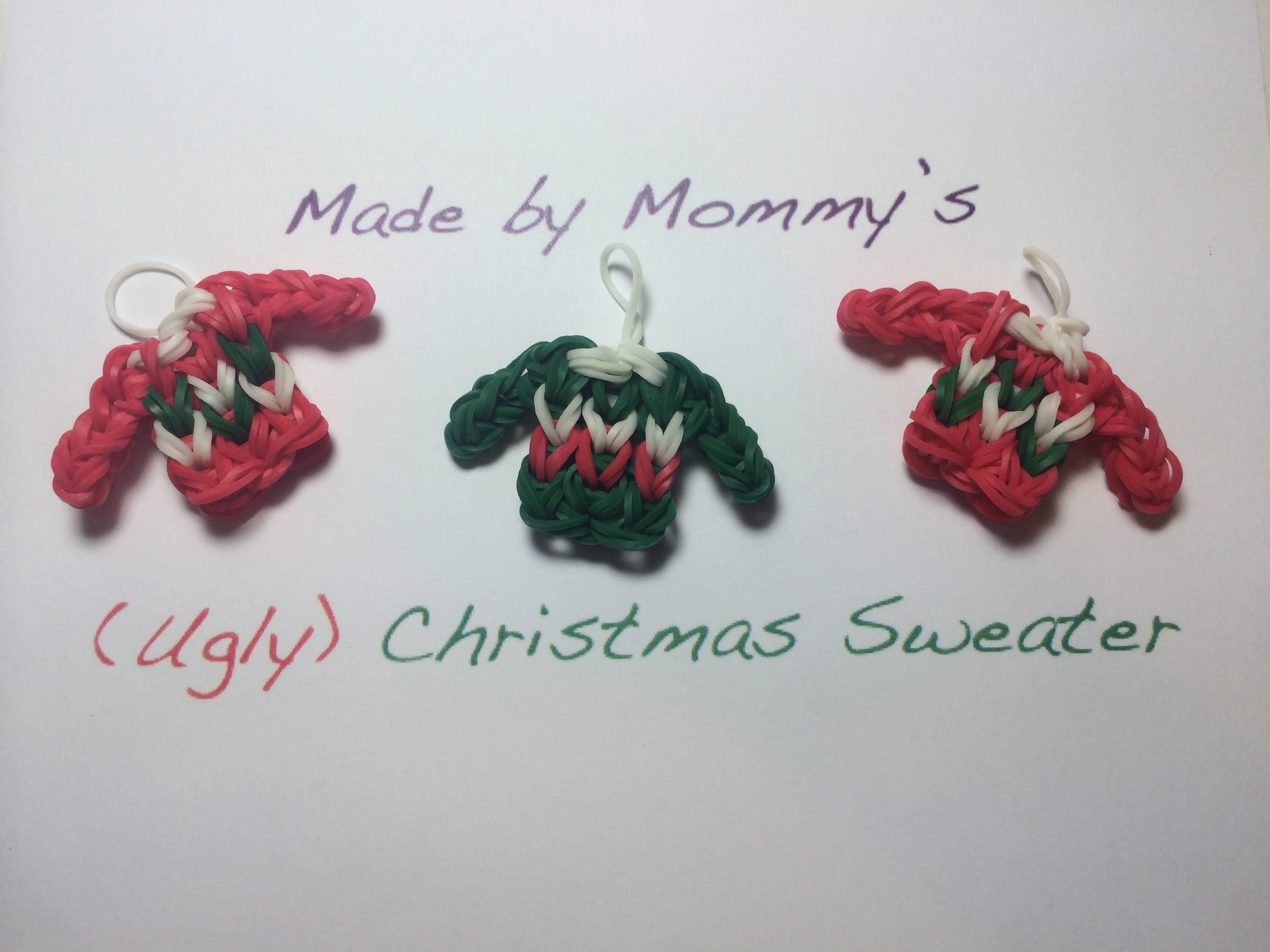 Ugly Christmas Sweater Charm on the Rainbow Loom