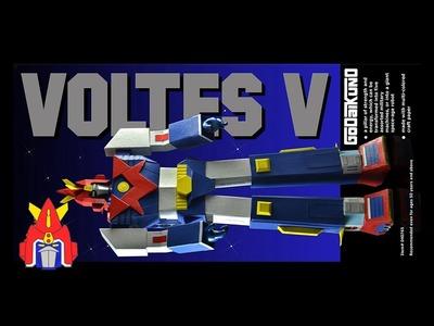 Voltes V - Paper Craft Unboxing