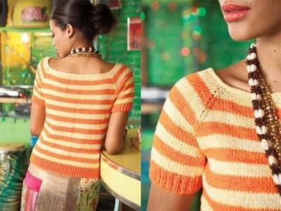 #20 Striped Top, Vogue Knitting Spring.Summer 2011