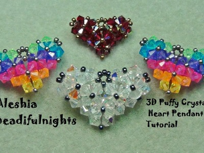 3D Puffy Crystal Heart Pendant Tutorial