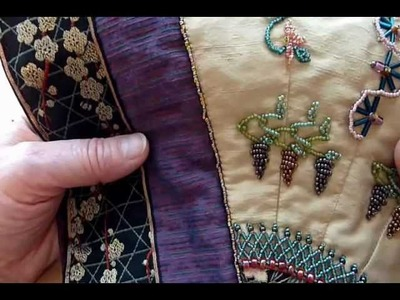 Beading Lesson: Satin Stitch and Grapes