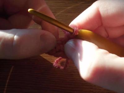 (Crochet) Crocheting into foundation chain row stitches