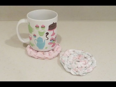 Crochet Fabric Mug Rugs Quick and Easy