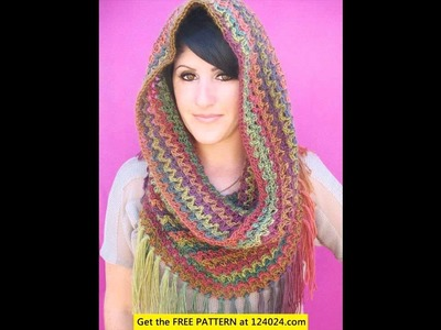 Crochet infinity scarf with bulky yarn