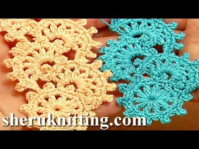 Crochet Puff Stitch Narrow Lace Tape Tutorial 11 Free Crochet Patterns