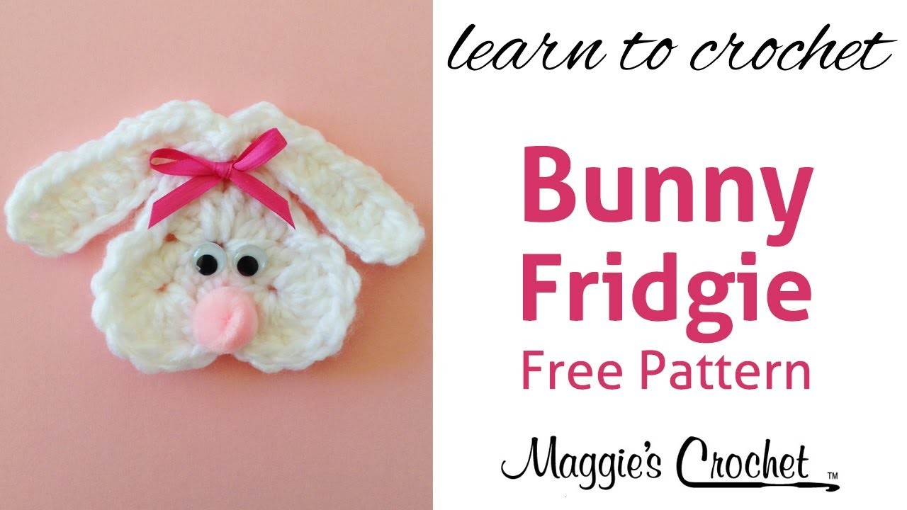 Cute Bunny Fridgie Free Crochet Pattern - Right Handed