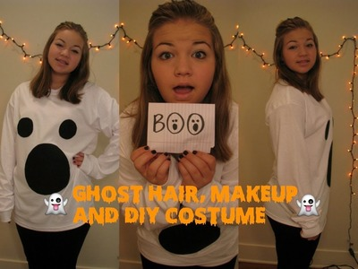 Cute Ghost DIY Halloween Costume, Hair, and Makeup