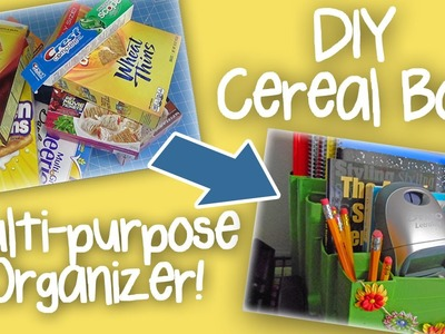 DIY Cereal Box Multipurpose Organizer