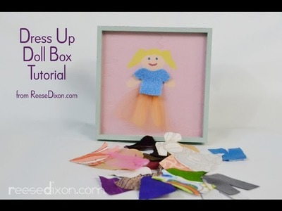 DIY Christmas gift for girls - Paper Dolls 2.0