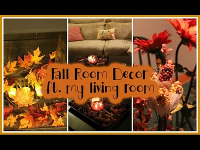 DIY Fall Decor ft. My living room + cozy up your room!