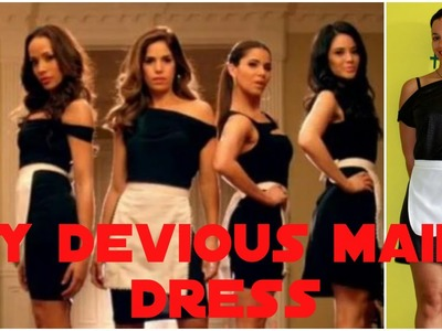 DIY Halloween Costume Devious Maids | How To Make a Little Black Dress + Apron