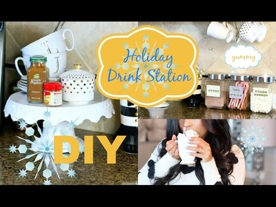 DIY Holiday Decor Drink Station - MissLizHeart