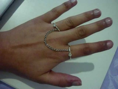 DIY: make a 2 finger ring