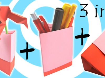 DIY: Origami Vase, Pen Holder and Gift Box (3 models in 1 tutorial)