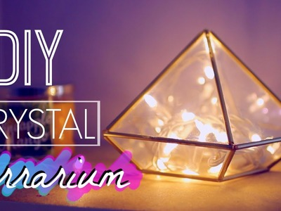 DIY Room Decor: Easy Crystal Terrarium | Tumblr and Urban Outfitters Inspired